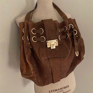 Jimmy Choo Brown Leather Shoulder Bag